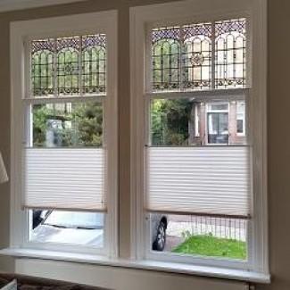 Stocklots Pleated Fabrics Window